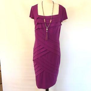 London Times Dress sz 14 dark purple EUC